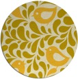 rug #585769 | round yellow natural rug