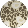 rug #585773 | round yellow natural rug