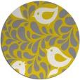 rug #585781 | round yellow animal rug