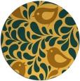 rug #585785   round yellow animal rug