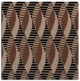 rug #586201 | square brown retro rug