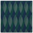 rug #586217 | square blue circles rug