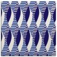 rug #586289 | square blue-violet retro rug