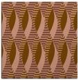 rug #586329 | square mid-brown retro rug