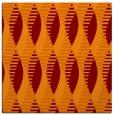 rug #586373   square red-orange retro rug