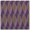 rug #586417 | square purple circles rug