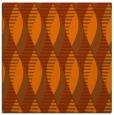 rug #586441 | square red-orange retro rug