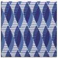 rug #586465 | square blue circles rug