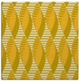 rug #586473 | square yellow retro rug