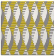 rug #586485 | square yellow retro rug