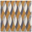 rug #586533 | square light-orange circles rug