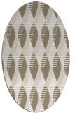 rug #586537 | oval beige circles rug
