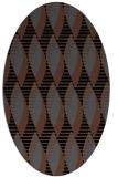 rug #586545 | oval black circles rug