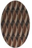 rug #586553 | oval black circles rug