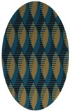 rug #586557 | oval brown retro rug