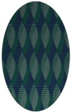 rug #586569 | oval blue graphic rug