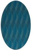 rug #586589   oval blue-green circles rug