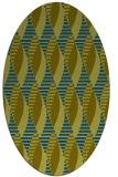 rug #586597 | oval green circles rug