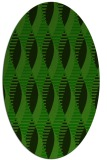 rug #586605 | oval green circles rug