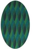 rug #586617   oval blue retro rug