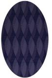 rug #586621   oval blue-violet rug