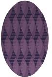rug #586633 | oval purple circles rug