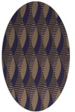 rug #586647 | oval retro rug