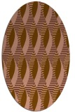rug #586681 | oval brown graphic rug