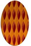rug #586725 | oval red-orange graphic rug