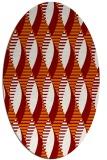 rug #586729   oval orange popular rug