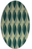 rug #586741 | oval yellow circles rug