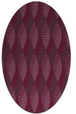 rug #586761 | oval purple circles rug