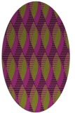 rug #586765 | oval purple circles rug