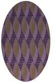rug #586769 | oval purple circles rug