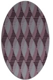 rug #586773 | oval purple rug