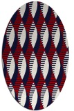 rug #586777 | oval red retro rug