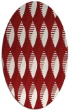 rug #586785 | oval red circles rug