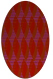 rug #586790 | oval retro rug