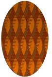 rug #586793 | oval red-orange graphic rug