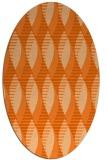 rug #586797 | oval red-orange graphic rug