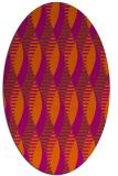 rug #586801   oval red-orange circles rug