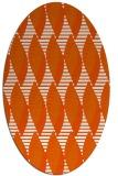 rug #586805 | oval red-orange circles rug