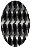 rug #586809 | oval white retro rug