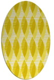 rug #586813 | oval white graphic rug