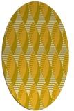 rug #586825 | oval yellow retro rug