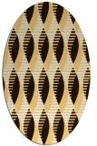 rug #586833 | oval brown retro rug