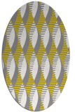 rug #586837 | oval yellow retro rug