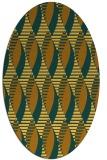 rug #586841 | oval yellow graphic rug