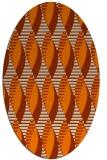 rug #586853 | oval orange graphic rug