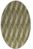 rug #586869 | oval light-green rug